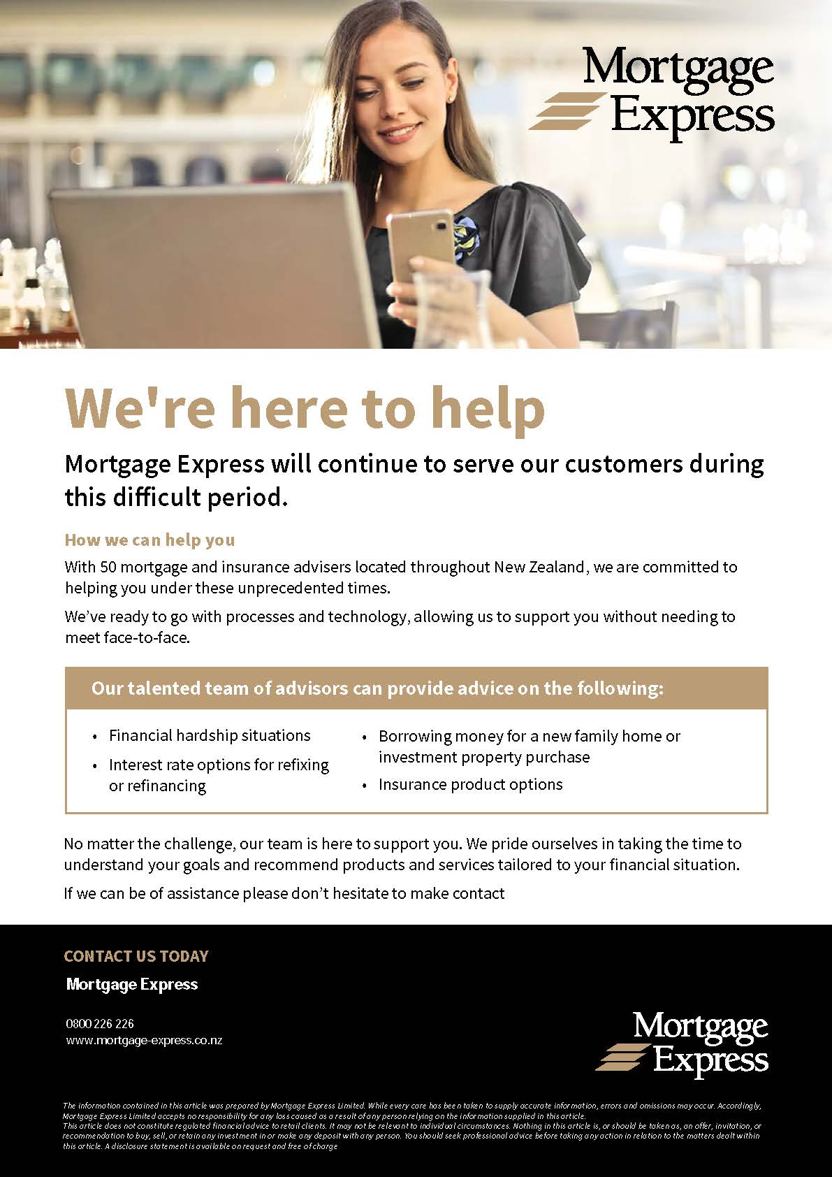 200053 Mortgage Express - COVID-19 Comms